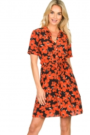 Freebird | Dress with flower print Suzy | red  | Picture 2