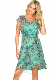Freebird    Dress with flower print Parel   blue    Picture 5