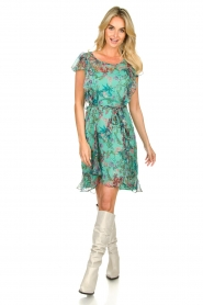 Freebird    Dress with flower print Parel   blue    Picture 3