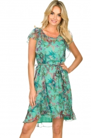 Freebird    Dress with flower print Parel   blue    Picture 2