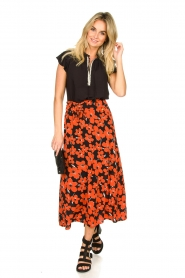 Freebird |  Floral midi skirt Willa | red  | Picture 3