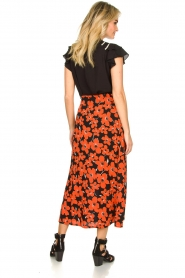 Freebird |  Floral midi skirt Willa | red  | Picture 5