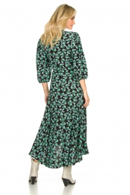Freebird |  Maxi wrap dress with flower print Belia | green  | Picture 5
