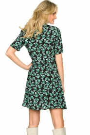 Freebird |  Mini dress with flower print Suzy | green  | Picture 6