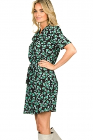 Freebird |  Mini dress with flower print Suzy | green  | Picture 5