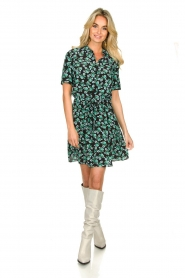 Freebird |  Mini dress with flower print Suzy | green  | Picture 3