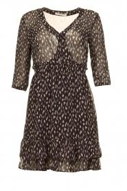 Freebird | Mini jurk met ruches Ammely | zwart   | Afbeelding 1