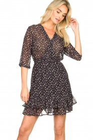 Freebird |  Mini dress with ruffles Ammely | black  | Picture 4