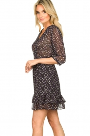 Freebird | Mini jurk met ruches Ammely | zwart   | Afbeelding 5