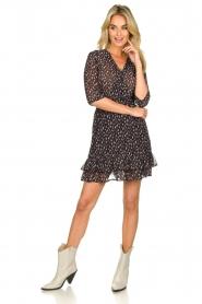 Freebird | Mini jurk met ruches Ammely | zwart   | Afbeelding 3