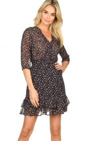 Freebird |  Mini dress with ruffles Ammely | black  | Picture 2