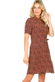 Freebird |  Dress with floral print Suzy | black  | Picture 4