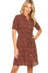 Freebird |  Dress with floral print Suzy | black  | Picture 2