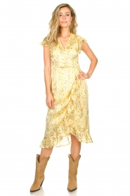 Freebird |  Dress with flowerprint| yellow  | Picture 3