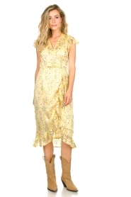 Freebird |  Dress with flowerprint| yellow  | Picture 4