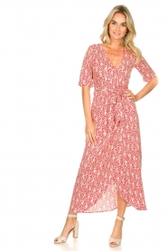 Freebird :  Printed maxi dress Levi | red - img4