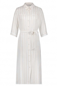 Freebird |  Dress with stripes|white  | Picture 1