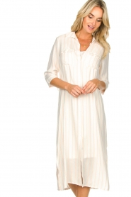 Freebird |  Dress with stripes|white  | Picture 3