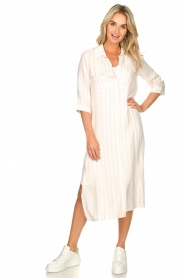 Freebird |  Dress with stripes|white  | Picture 2