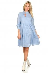 Sofie Schnoor    Lurex dress Lizzy   blue    Picture 3
