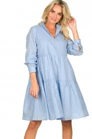 Sofie Schnoor    Lurex dress Lizzy   blue    Picture 2