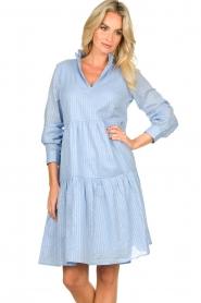 Sofie Schnoor    Lurex dress Lizzy   blue    Picture 4