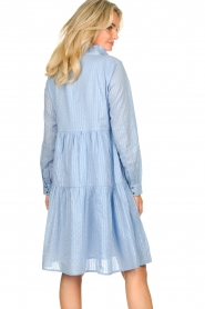 Sofie Schnoor |  Lurex dress Lizzy | blue  | Picture 7