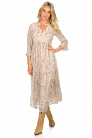 Sofie Schnoor |  Printed maxi dress Ivalo | nude  | Picture 2