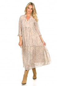 Sofie Schnoor |  Printed maxi dress Ivalo | nude  | Picture 3