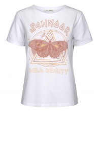 Sofie Schnoor |  T-shirt with print Fillicia | white  | Picture 1