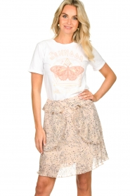 Sofie Schnoor |  T-shirt with print Fillicia | white  | Picture 2