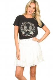 Sofie Schnoor |  T-shirt with print Cady | black  | Picture 2