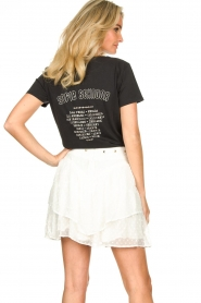 Sofie Schnoor |  T-shirt with print Cady | black  | Picture 6