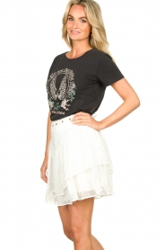 Sofie Schnoor |  T-shirt with print Cady | black  | Picture 5