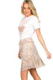 Sofie Schnoor |  Printed skirt Lara | nude  | Picture 4