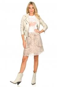 Sofie Schnoor |  Printed skirt Lara | nude  | Picture 3