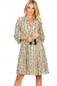 Sofie Schnoor |  Printed dress Giselle | beige  | Picture 2
