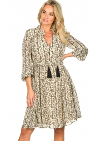 Sofie Schnoor |  Printed dress Giselle | beige  | Picture 4