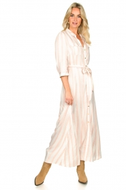 Sofie Schnoor |  Striped maxi dress Lula | white  | Picture 3