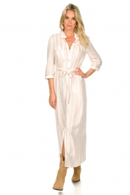 Sofie Schnoor |  Striped maxi dress Lula | white  | Picture 2