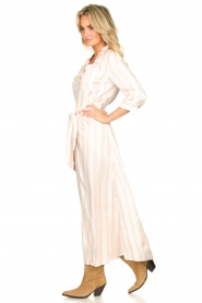 Sofie Schnoor |  Striped maxi dress Lula | white  | Picture 5