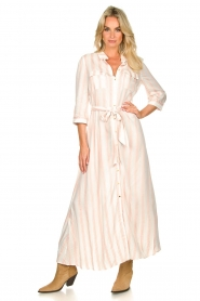 Sofie Schnoor |  Striped maxi dress Lula | white  | Picture 4