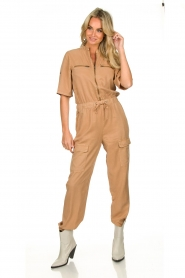 Sofie Schnoor |  Jumpsuit with pockets Herle | brown  | Picture 4