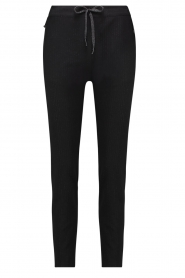 Aaiko |  Trousers with lurex stripes Poppi | black  | Picture 1