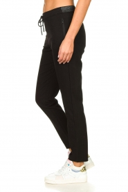 Aaiko |  Trousers with lurex stripes Poppi | black  | Picture 4