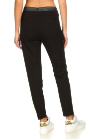 Aaiko |  Trousers with lurex stripes Poppi | black  | Picture 5