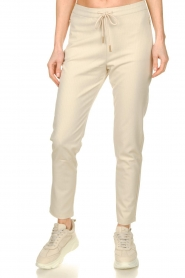 Aaiko |  Trousers with lurex stripes Poppi | off-white  | Picture 2