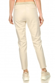 Aaiko |  Trousers with lurex stripes Poppi | off-white  | Picture 5