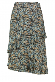 Aaiko | Skirt with print Arida | blue   | Picture 1