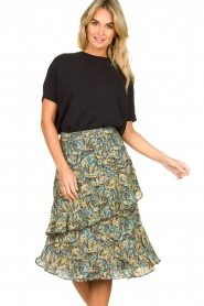 Aaiko | Skirt with print Arida | blue   | Picture 4